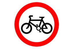 No Cycling symbol