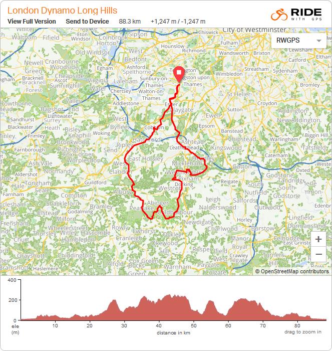 Surrey Hills Long Route